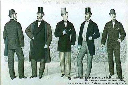 A moda masculina nos idos de 1890