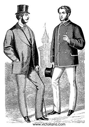 Aqui um outro exemplo. As vestes do cavalheiro à direita muito provavelmente foram influenciadas pela moda dos pijamas indianos, que neste época, já era colônia inglesa
