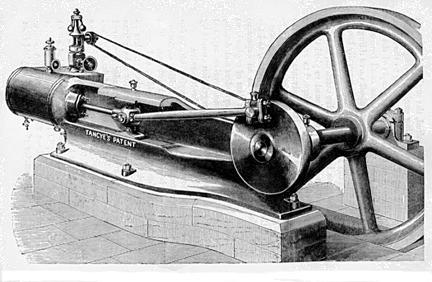 Exemplo de motor à vapor
