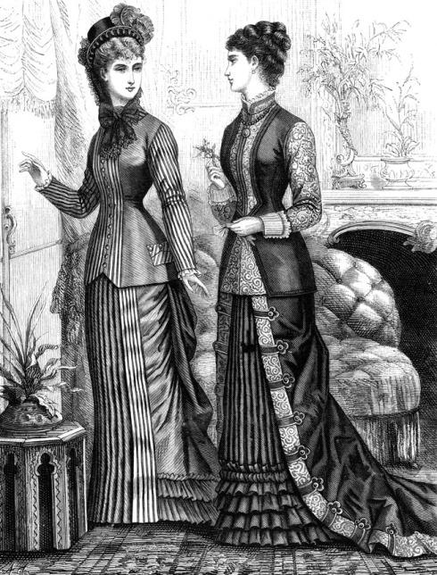 Exemplo de vestuário vitoriano