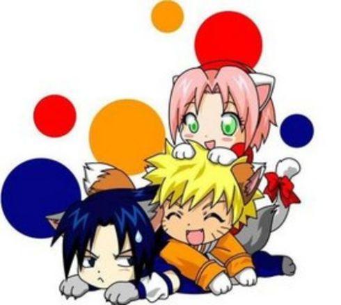 Kawaiizando os personagens do Naruto